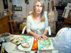 Pam Carriker tutorial on the reason it is important to keep several art journals at the same time.