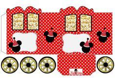 Mickey Head: Princess Carriage Shaped Free Printable Box.