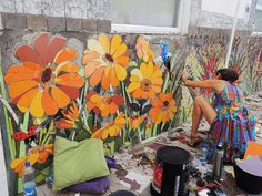 1st International Urban Mosaic Intervention - Stgo.  Chile 2014