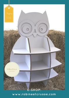 Shelf / storage for children HibouDoux cardboard