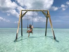 Great Exuma, Bahamas A swing in the middle of the ocean! Coco plum beach at low tide!