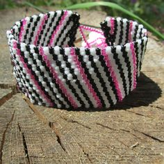 Cuff: Have a Cow Peyote Stitch Bracelet Cuff by MCBDdesigns