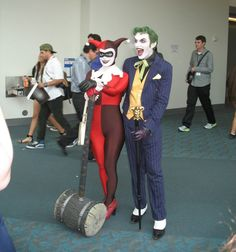 SDCC the Joker and Harley Quinn cosplay Batman Cosplay, Comic Con Cosplay, Harley Quinn Cosplay, Joker And Harley Quinn, Best Cosplay, Cosplay Outfits, Cosplay Costumes, Anthony Misiano, Halloween Cosplay