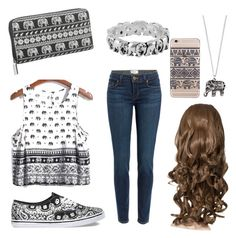 """Untitled #90"" by marija-grahovac ❤ liked on Polyvore featuring Paige Denim, Vans, maurices, Jewel Exclusive and Accessorize"