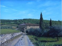 """Farmhouse in Tuscany"" Oil Painting by Francesca Pratellesi cm 60x 80"
