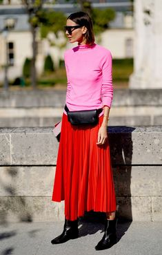 From blush to bubblegum, here's how to wear pink according to 26 street-style stars.