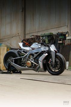 Macchina Estrema: Simone Conti's radical Aprilia - Bikes - Motor Triumph Motorcycles, Concept Motorcycles, Custom Motorcycles, Custom Street Bikes, Custom Bikes, Moto Bike, Motorcycle Bike, Motorcycle Design, Bike Design