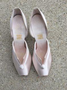 40s 50s Pink Satin Daniel Green Boudoir Slippers Bedroom Glamorous