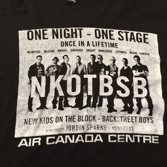 NKOTB Concert T-shirt with Backstreet Boys Air Canada Centre 2011 XL #BasicTee