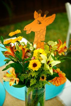 The Life of the Party, Giraffe Baby Shower, Giraffe party Safari Baby Shower Cake, Giraffe Party, Baby Shower Giraffe, Baby Shower Cakes, Baby Shower Themes, Shower Ideas, Baby Shower Centerpieces, Baby Shower Decorations, Paper Flower Arrangements