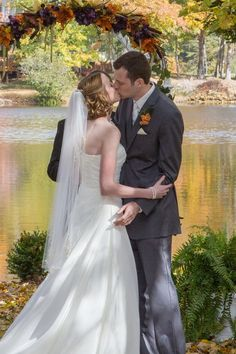First wedding kiss at Serenity Cove.