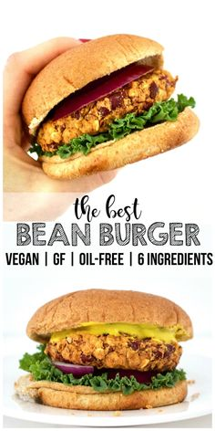 Made with only 6 simple, wholesome ingredients. The BEST & simplest bean burgers! Made with only 6 simple, wholesome ingredients.The BEST & simplest bean burgers! Made with only 6 simple, wholesome ingredients. Kidney Bean Burgers, Black Bean Burgers, Black Bean Quinoa Burger, Hamburgers, Vegan Foods, Vegan Dishes, Diet Foods, Vegan Bean Burger, Vegan Burger Recipe Easy