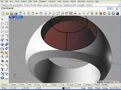 Graduation Ring Part Rhino By: Sergio Martinez McNeel Miami Rhino Software, Cad Software, Rhino Cad, Rhino Tutorial, Rhinoceros 5, Digital Fabrication, Modeling Tips, Ring Designs, Rhinos