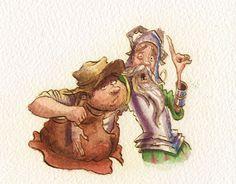 Don Quixote, Andy Catling, advocate art, illustration agency, childrens illustrator