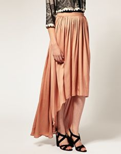 These mullet/maxi skirts have great movement to them. I want!