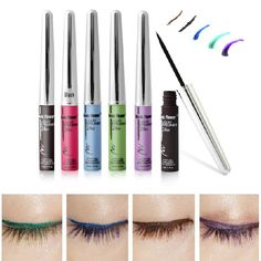 Brand New Professionals Beauty Makeup Colorful Eyeliner Liquid Make Up Eye Liner Pencil Pen maquiagem delineador Free Shipping