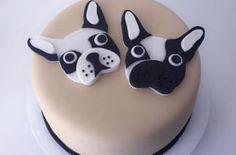 torta bulldog frances medellin envigado dulcepastel Cupcakes, Cupcake Cakes, Boston Terrier Cake, Boston Terriers, Puppy Birthday Cakes, Fondant Dog, Bulldog Cake, Animal Cakes, Dog Cakes