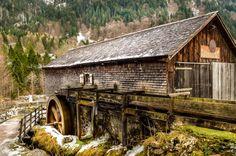Austrian Hut with Water Wheel by Barbara Bourke on 500px