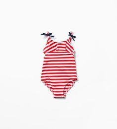 STRIPED SWIMSUIT-Swimwear-Baby girl (3 months - 3 years)-KIDS | ZARA United States
