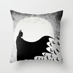 Knight Rising from the Dark Throw Pillow by UvinArt - $20.00