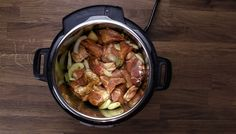 Easy Instant Pot Carnitas Recipe (Pressure Cooker Carnitas): Marinating pork shoulder (pork Boston butt meat)