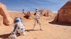The video, made by the fan club Star Wars Tunisia , is set among some of the abandoned set pieces used in the original films and around other parts of Tunisia.