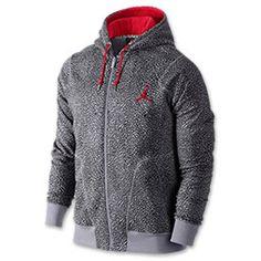 61f7af8b5 Men's Jordan Own The Elephant Full-Zip Hoodie | FinishLine.com | Cement Grey