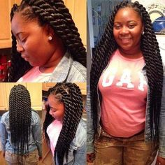 All styles of box braids to sublimate her hair afro On long box braids, everything is allowed! For fans of all kinds of buns, Afro braids in XXL bun bun work as well as the low glamorous bun Zoe Kravitz. Big Twist Braids Hairstyles, African Braids Hairstyles, My Hairstyle, Weave Hairstyles, Cool Hairstyles, Hairstyles 2018, Elegant Hairstyles, Black Hairstyles, Protective Hairstyles