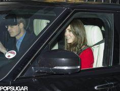 : Kate Middleton smiled while pulling into Buckingham Palace.