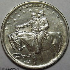 Unusual Old Coin  1925-Stone-Mountain-Commemorative-Half-Dollar-Old-US-Coin-Lustrous-Gem-BU