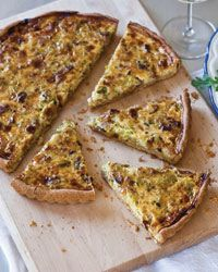 Bacon & Leek Breakfast Quiche Recipe | To celebrate the film Julie & Julia, starring Amy Adams as blogger Julie Powell and Meryl Streep as Julia Child, throw a cooking party featuring one of the amazing matriarch's favorite foods: quiche.