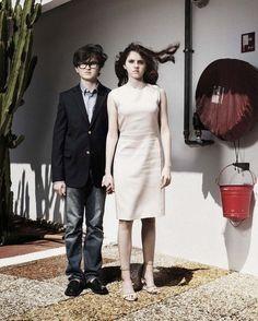 Jared Gilman & Kara Hayward de Moonrise Kingdom. An undiscovered photo of Jared from Cannes.