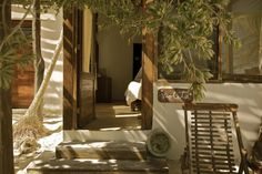 "Casa Violeta, Tulum (Mexico) - Maria: ""This eco-friendly boutique hotel with adorable cabanas is a blissful paradise on a pristine white beach facing the Caribbean."" #travel #Esprit"