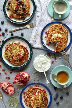 22 sweet and savory flower water recipes, like Baklava Pancakes, to make in the spring.