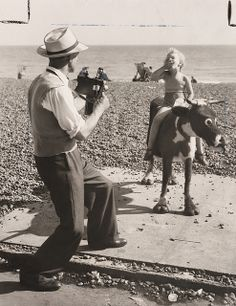 A beach photographer at work by National Media Museum, via Flickr