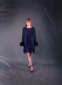 Furs get funky with this embroidered jacket.