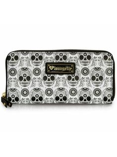 """Sugar Skull"" Wallet by Loungefly (Black/White) #InkedShop #wallet #skull #accessories"