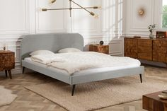 Nils Holger Moormann bed frame with head section dormouse black, designer Christoffer Martens, - Elegant bed Famous silver gray velvet retro design Riess AmbienteRiess Ambiente - Romantic Home Decor, Quirky Home Decor, Classic Home Decor, Hippie Home Decor, Gothic Home Decor, Cute Home Decor, Indian Home Decor, Easy Home Decor, Home Decor Styles
