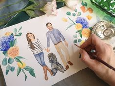 Watercolor Wedding Painting / Wedding Portrait Painting / Custom Couple Illustration / Wedding Anniversary Gift for Him / Stationery — Mary Paints Weddings Wedding Painting, Watercolor Wedding, Watercolor Portrait Painting, Couple Illustration, Anniversary Gifts For Him, Wedding Portraits, Wedding Details, Stationery, Mary