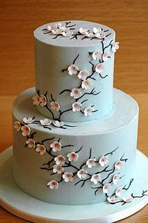 18) A traditional or non-traditional cake ...because cherry blossoms mean a new beginning #modcloth#wedding