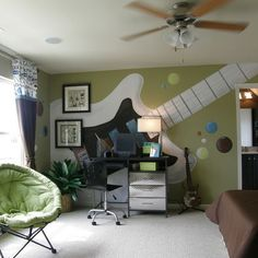 Exceptionnel Music Bedroom Decorating Ideas   Rock Star Bedrooms   Music Theme Bedrooms    Music Theme Decor   Music Themed Decorations   Bedding With Musical Notes  ...