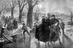 """Skating Season"" (1862) by Winslow Homer"