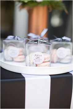 Calligraphy & Stationery by LMS Designs, LLC http://www.lmsdesignstudio.com | Merci wedding favours | Image by Poly Mendes Photography, see more http://www.frenchweddingstyle.com/pretty-parisian-wedding-inspiration/
