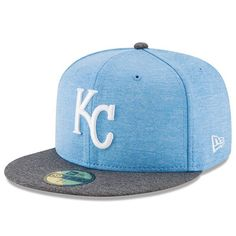 best service 0cae7 49eed Kansas City Royals New Era 2017 Father s Day 59FIFTY Fitted Hat - Heather  Blue