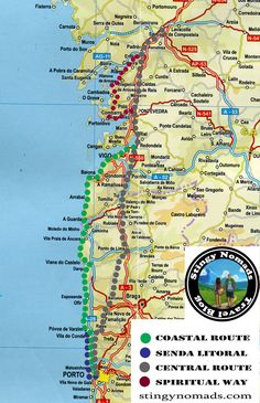 The Portuguese Camino detailed guide + Central Route stages - Stingy Nomads Camino Walk, Camino Trail, The Camino, El Camino Pilgrimage, Spain Pilgrimage, Spain And Portugal, Portugal Travel, Spain Travel, Portugal Flights