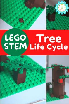 An Earth Day LEGO challenge making a LEGO tree life cycle is the perfect activity to go along with any Earth Day lesson! Plant Experiments, Elementary Science Experiments, Plant Science, Science Fair Projects, Science For Kids, Lego Activities, Earth Day Activities, Tree Life Cycle, Lego Tree
