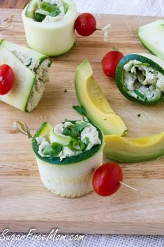avocado chicken zucchini roll ups- low carb, gluten free