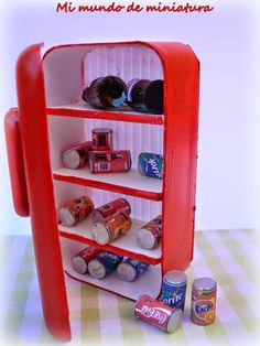 Dollhouse Miniature Refrigerator Tutorial