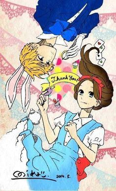 Hirunaka no Ryuusei ❤ Alice in Wonderland version Mamura Daiki, Manga Anime, Anime Art, Daytime Shooting Star, Tsubaki Chou Lonely Planet, Romance Manga, Hirunaka No Ryuusei, Manga Illustration, Sweet Couple