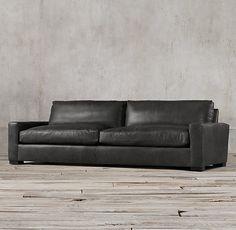 Restoration Hardware Maxwell Sofa In Glove Leather - Restoration hardware leather sofas